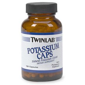 Potassium 99mg 90 caps from Twinlab  (Vitamins Supplements - Potassium)