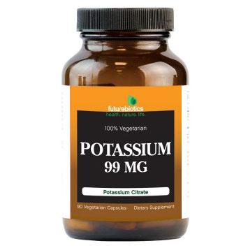 Potassium Citrate 99 mg, 90 Vegetarian Capsules, FutureBiotics