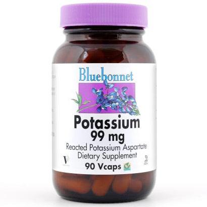 Potassium 99 mg, 90 Vcaps, Bluebonnet Nutrition