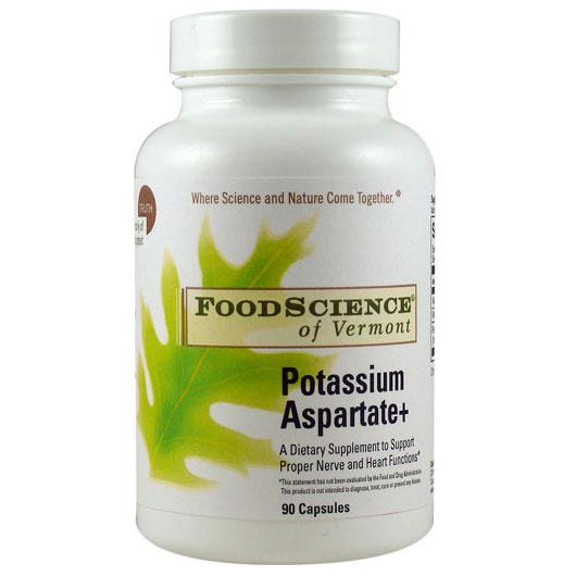 Potassium Aspartate 90 caps, FoodScience Of Vermont