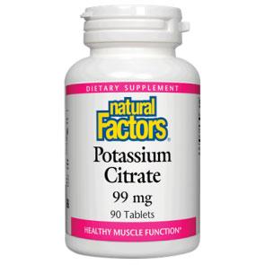 Potassium Citrate 99mg 90 Tablets, Natural Factors