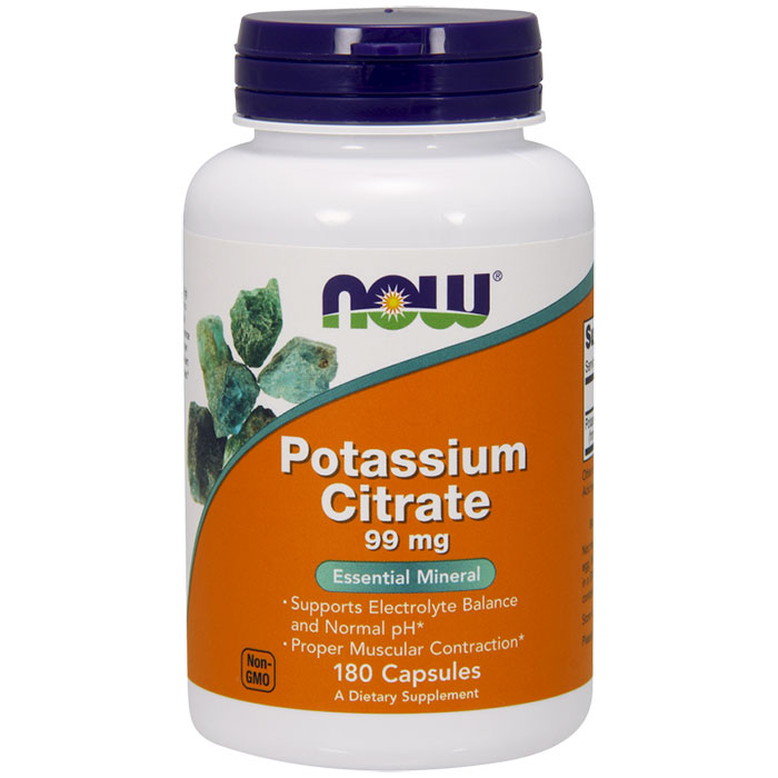 Potassium Citrate 99 mg, 180 Capsules, NOW Foods