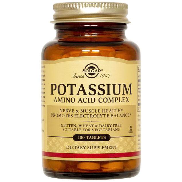 Potassium Amino Acid Complex, 100 Tablets, Solgar
