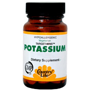 Potassium 99 mg Target Mins 90 Tablets, Country Life