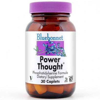 Power Thought, Phosphatidylserine Formula, 30 Caplets, Bluebonnet Nutrition