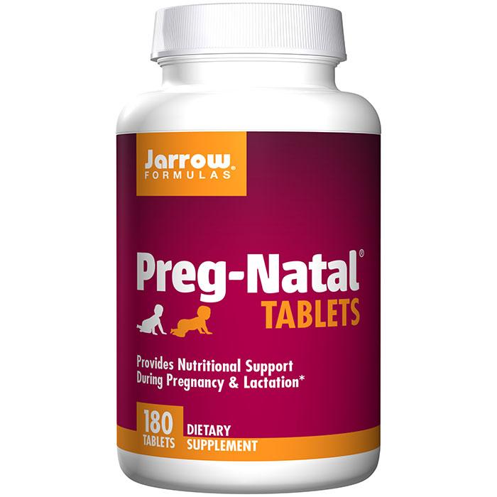 Preg-Natal, Nutritional Support During Pregnancy & Lactation, 180 Tablets, Jarrow Formulas