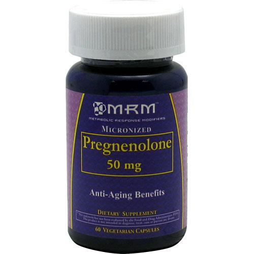Pregnenolone 50 mg, 60 Vegetarian Capsules, MRM