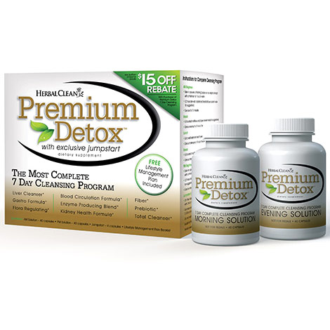 Herbal Clean Premium Detox 7 Day Kit, Complete Cleansing Program, 3 pc