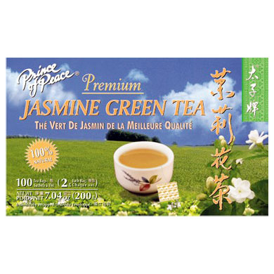 Premium Jasmine Green Tea 100 tea bag, Prince of Peace