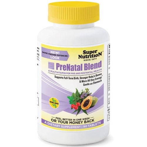 PreNatal Blend, Multivitamin for Pre and Postnatal Health, 90 Tablets, SuperNutrition