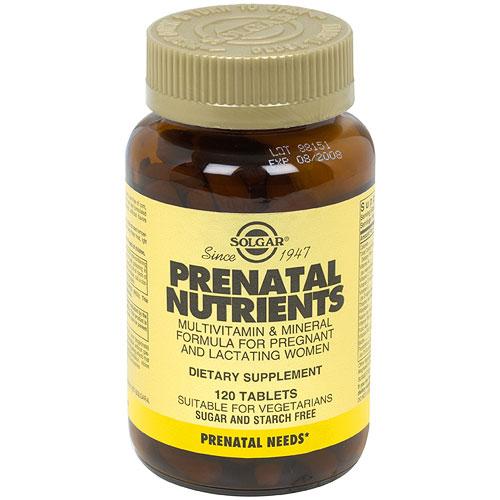 Prenatal Nutrients, 120 Tablets, Solgar