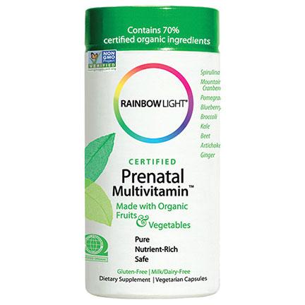 PreNatal Organic MultiVitamin, Certified Organics, 120 Capsules, Rainbow Light