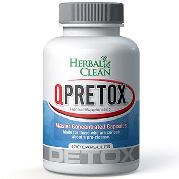 QPretox Dietary Supplement 100 Caps, Herbal Clean Detox