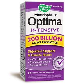 Primadophilus Optima Intensive 200 Billion Active Probiotics, 30 Capsules, Natures Way