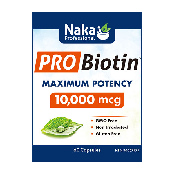 Pro Biotin 10,000 mcg, Maximum Potency, 60 Capsules, Naka Herbs & Vitamins