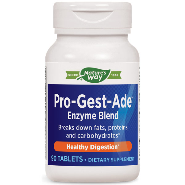Pro-Gest-Ade, Digestion, 90 Tablets, Enzymatic Therapy