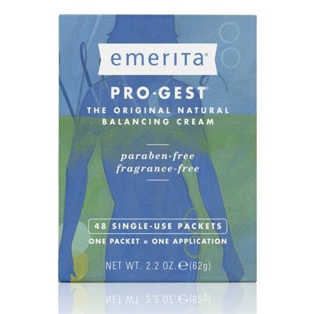 Pro-Gest Natural Progesterone Cream Paraben Free Single Use Packets , 48 Packets, Emerita
