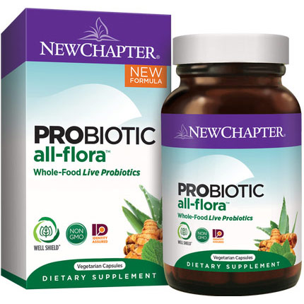Probiotic All-Flora, Value Size, 60 Vegetarian Capsules, New Chapter