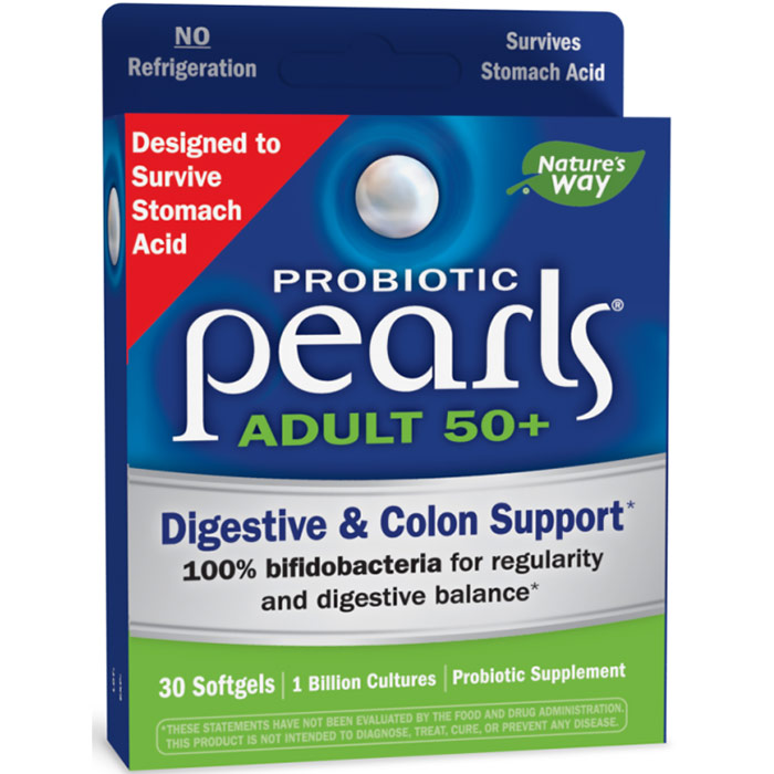 Probiotic Pearls Adult 50+, 30 Softgels, Enzymatic Therapy