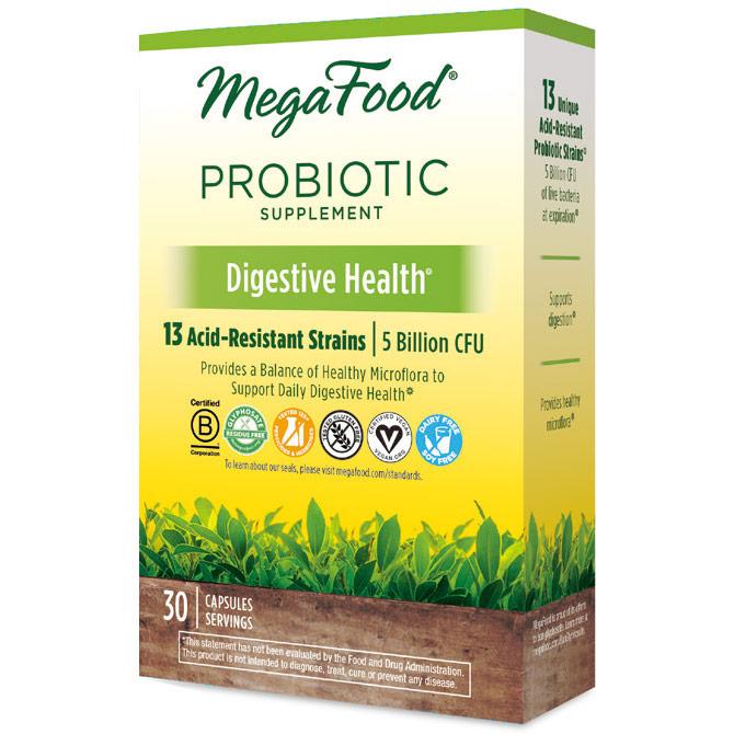 Shelf Stable Probiotic Supplement - Digestive Health, 30 Capsules, MegaFood