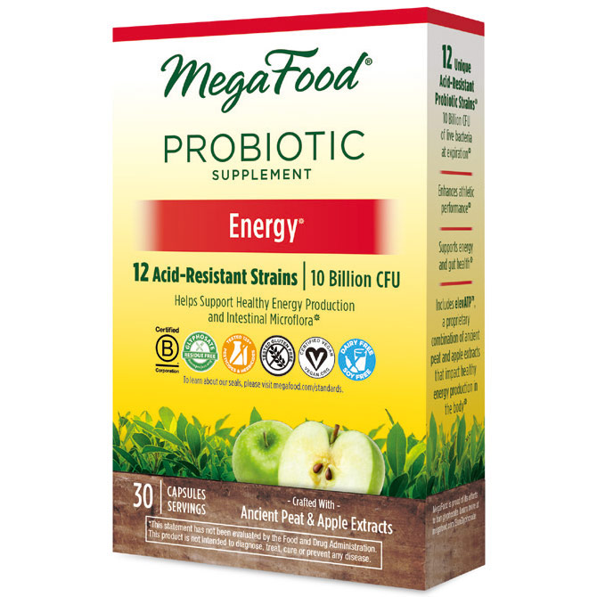 Shelf Stable Probiotic Supplement - Energy, 30 Capsules, MegaFood