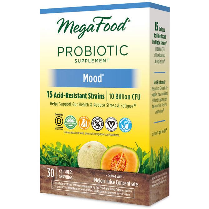 Shelf Stable Probiotic Supplement - Mood, 30 Capsules, MegaFood
