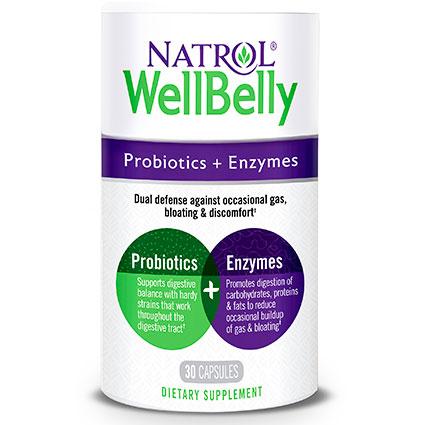 Well Belly, Probiotic + Enzymes, 30 Capsules, Natrol