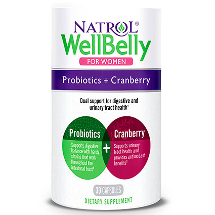 Well Belly Women, Probiotic + Cranberry, 30 Capsules, Natrol
