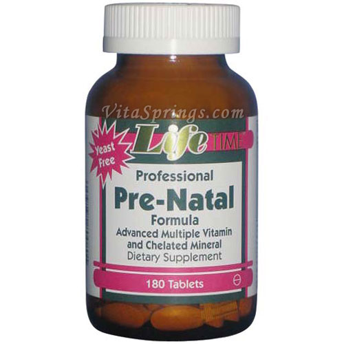 Professional Pre-Natal, Recommended in Fertility Cycles and Nutrition, 180 Tablets, LifeTime