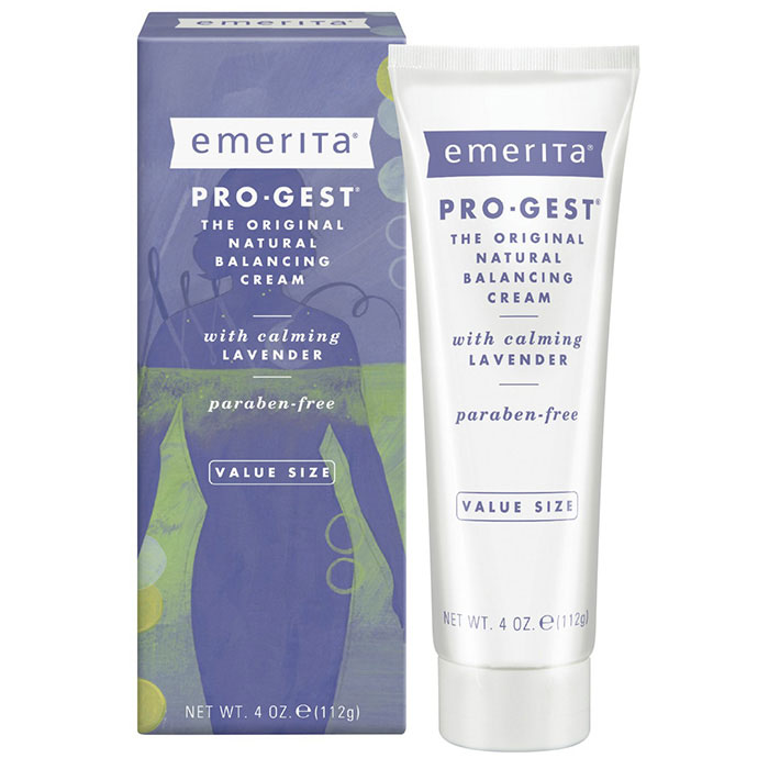 Pro-Gest Cream with Lavender, ProGest Balancing Cream, 4 oz, Emerita