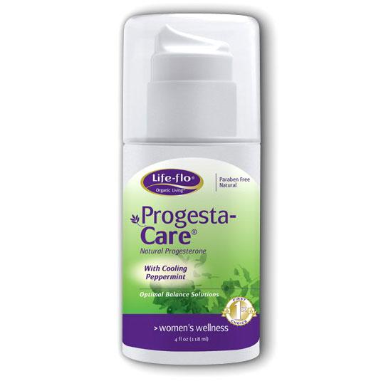 Life-Flo Progesta-Care with Cooling Peppermint (Progesta Care) 4 oz, LifeFlo
