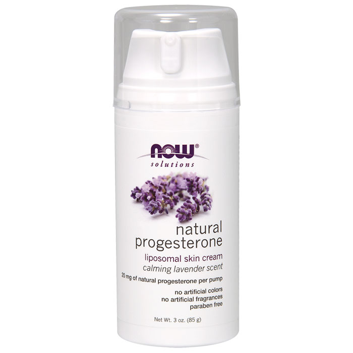 Natural Progesterone Liposomal Skin Cream with Lavender, 3 oz, NOW Foods