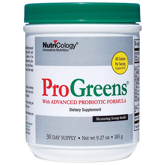 ProGreens with Advanced Probiotic Formula Drink Mix, 9.27 oz (265 g), NutriCology