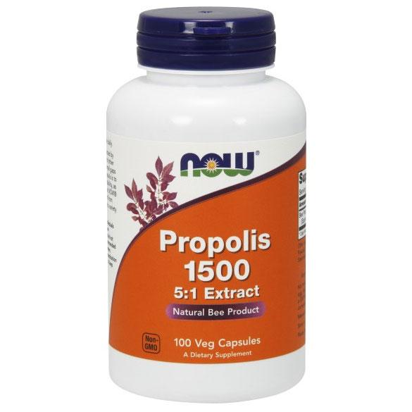 Propolis 1500 mg, 100 Veg Capsules, NOW Foods