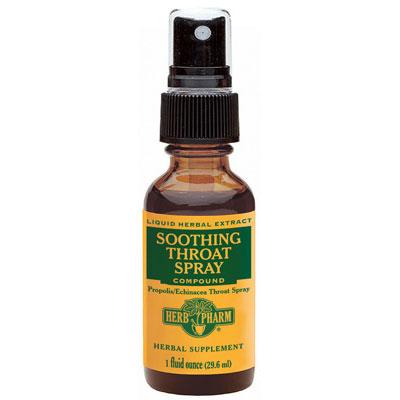 Soothing Throat Spray, 1 oz, Herb Pharm (Formerly Propolis Echinacea Throat Spray)