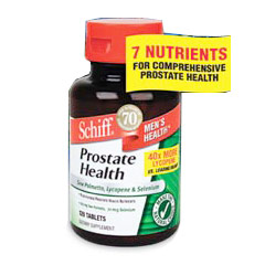 Prostate Health with Saw Palmetto, Lycopene & Selenium, 120 Capsules, Schiff