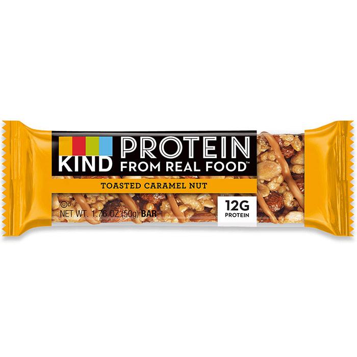 Protein Bar, Toasted Caramel Nut, 1.76 oz x 12 Bars, KIND Bars