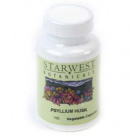Psyllium Husk 100 Caps 500 mg, StarWest Botanicals