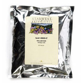Psyllium Husk 500 Caps 500 mg, StarWest Botanicals