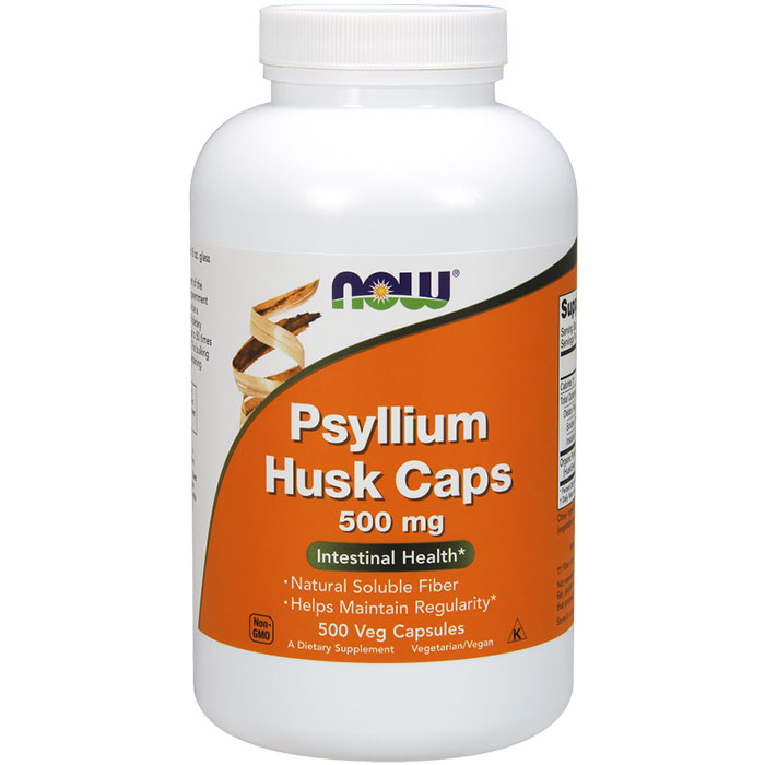 Psyllium Husk Caps 500 mg, Value Size, 500 Veg Capsules, NOW Foods