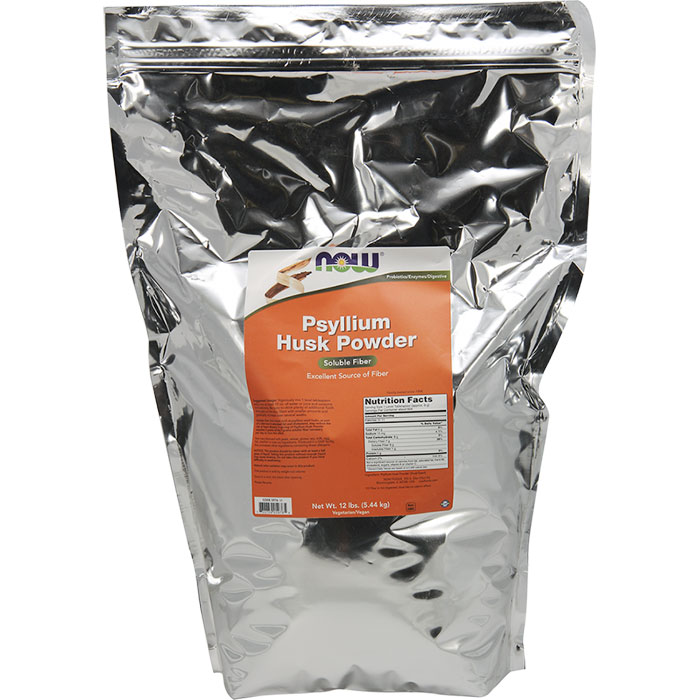 Psyllium Husk Powder, 12 lb, NOW Foods