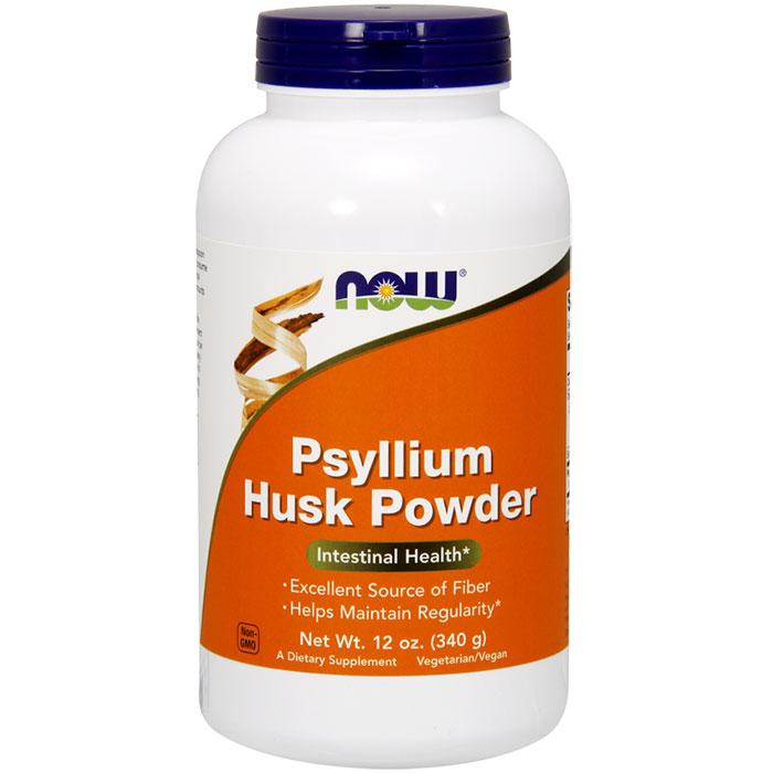 Psyllium Husk Powder Vegetarian 12 oz, NOW Foods