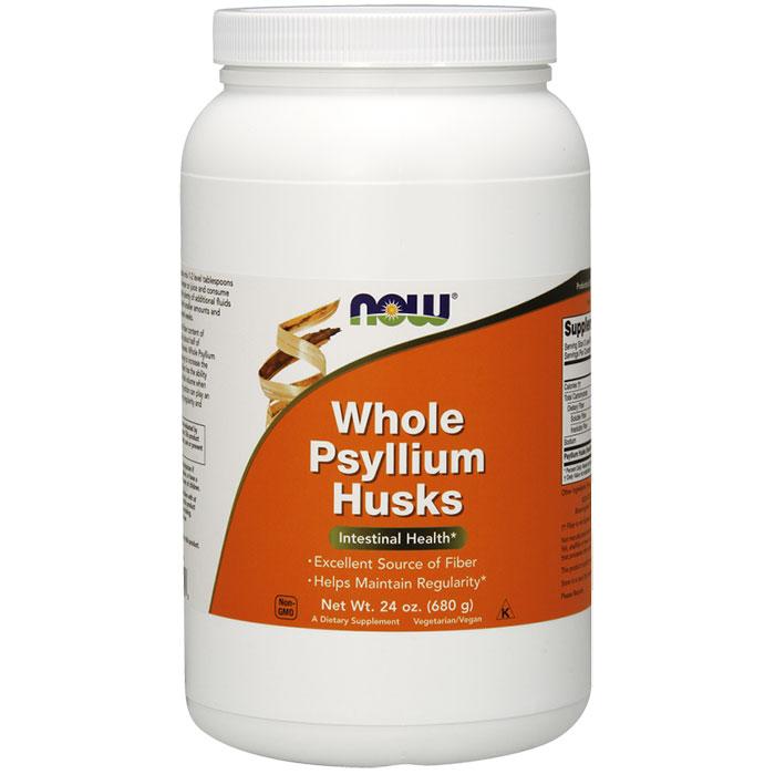 Psyllium Husk Whole, Value Size, 24 oz, NOW Foods