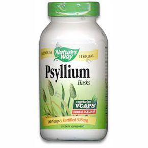 Psyllium Husks 525mg 180 vegicaps from Nature's Way