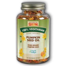 100% Vegetarian Pumpkin Seed Oil, 90 Softgels, Health From The Sun