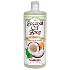 Pure Coconut Oil Soap, Peppermint & Bergamot, 32 oz, NutriBiotic