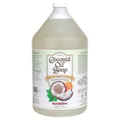 Pure Coconut Oil Soap, Peppermint & Bergamot, Economy Size, 1 Gallon, NutriBiotic