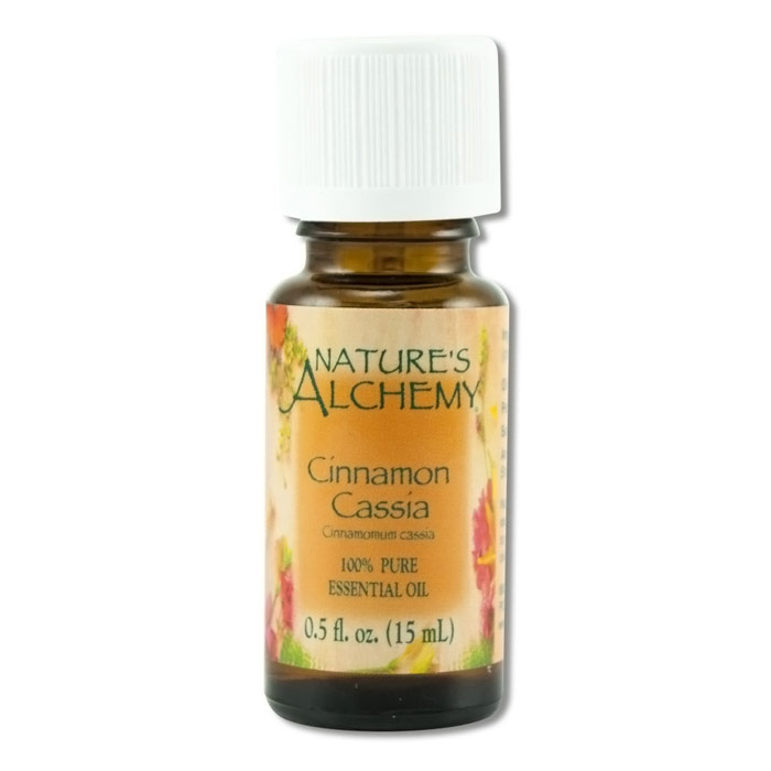 Pure Essential Oil Cinnamon Cassia, 0.5 oz, Nature's Alchemy
