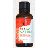100% Pure Essential Oil, Geranium, 1 oz, Via Nature