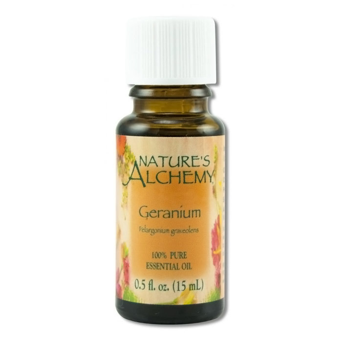 Pure Essential Oil Geranium, 0.5 oz, Nature's Alchemy